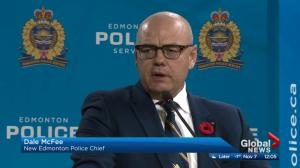 Dale McFee named Edmonton's 23rd chief of police